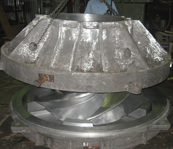 Impeller core box with loose vanes